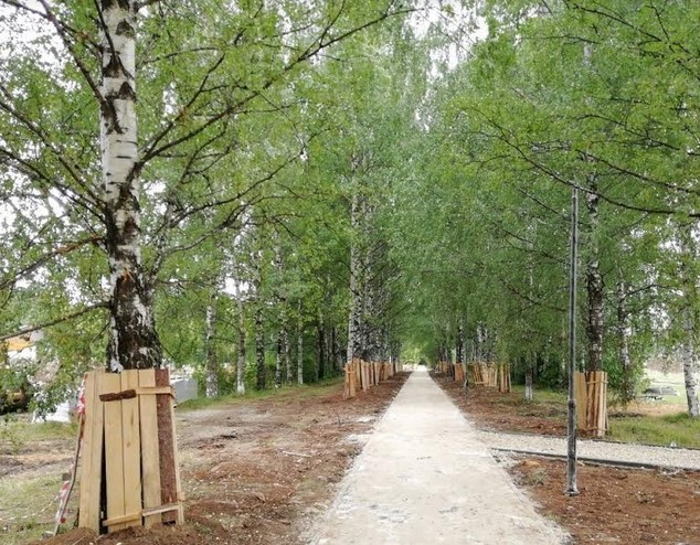 В парке Северного речного вокзала высадят 7 тысяч деревьев